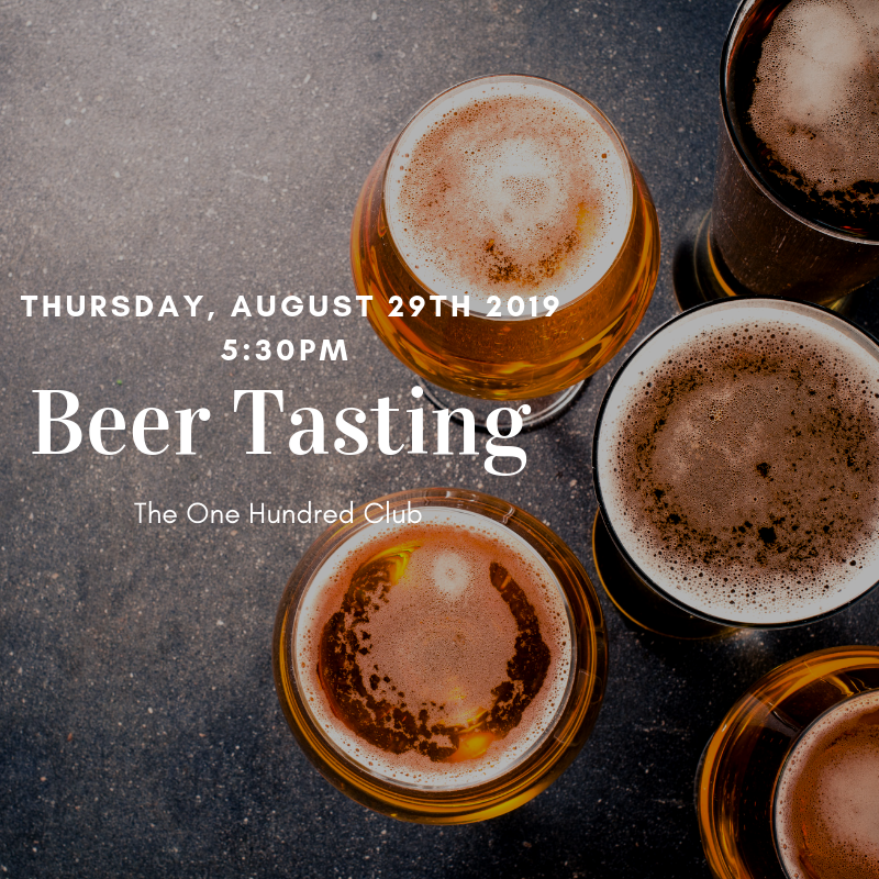August Beer Tasting @ One Hundred Club